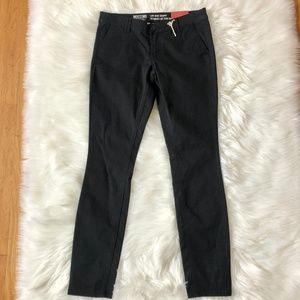 MOSSIMO NWT Low Rise Skinny Black Pants Cotton 8